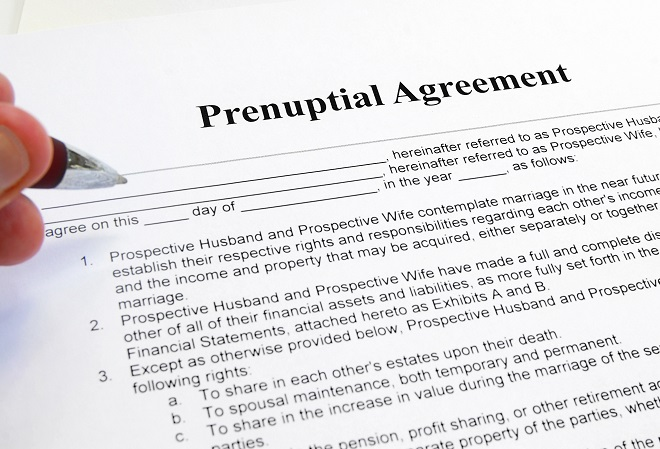 example of prenuptial agreement for bride and groom
