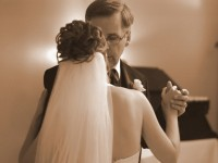 father of the bride dancing with his daughter at wedding