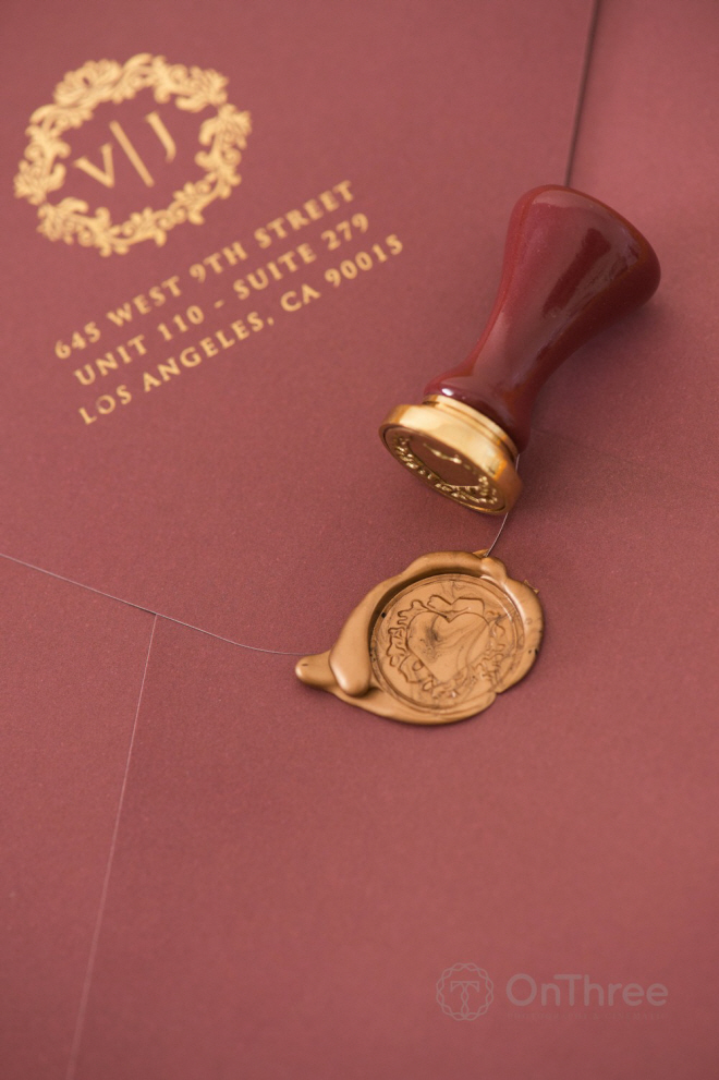 Close-up wax stamp.