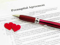 prenuptial agreement documentation ready for bridal couple to sign