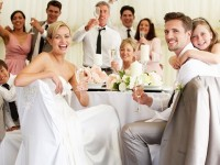 fun relaxed wedding ambiance at reception