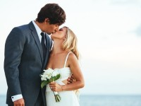 bride and groom married overseas at destination wedding