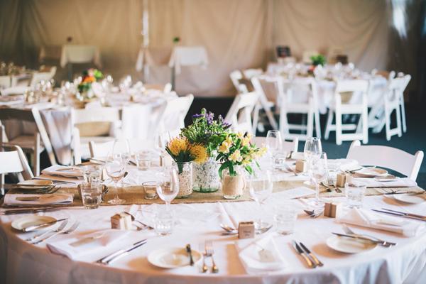 real wedding table decor