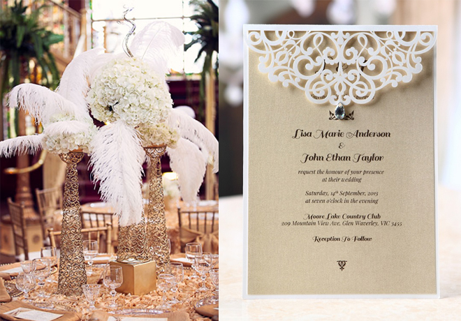 great gatsby 2014 wedding theme