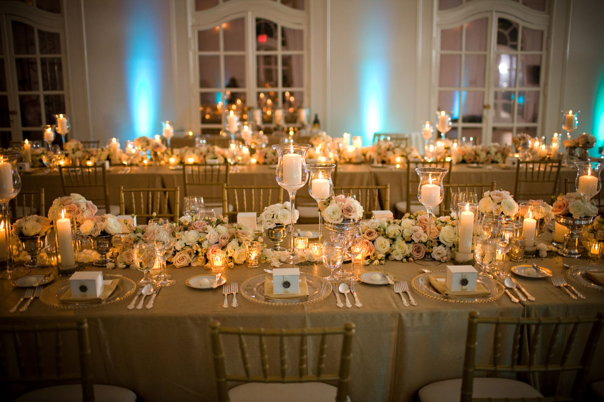 gold winter wedding theme