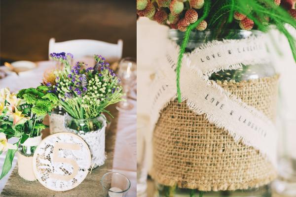real wedding rustic styling australia
