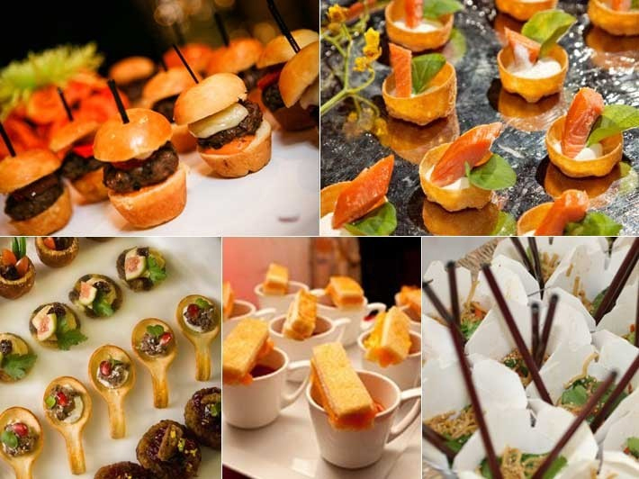 wedding reception canapes