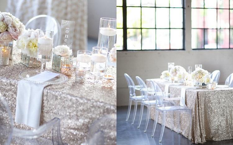 metallic wedding decor