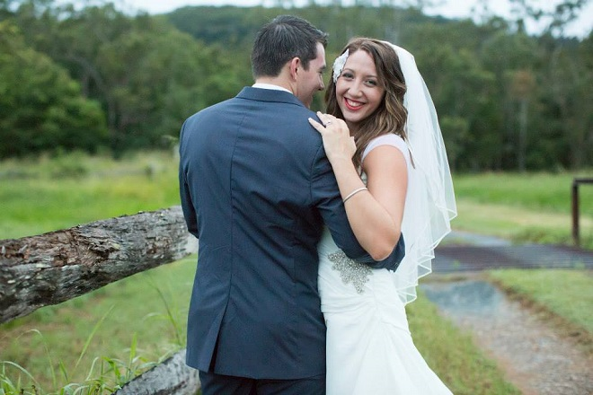 real wedding bridal couple