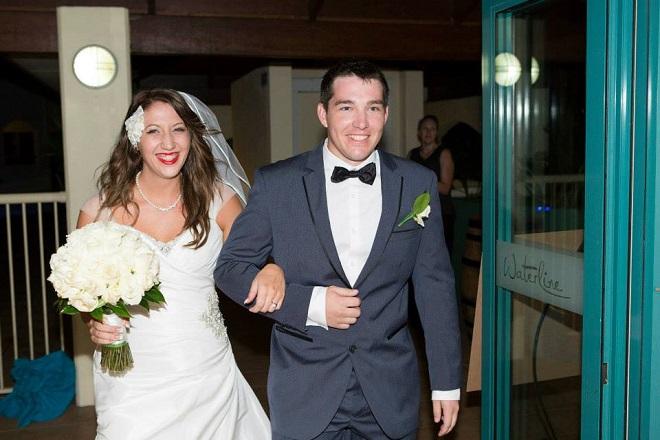 wedding reception entrance