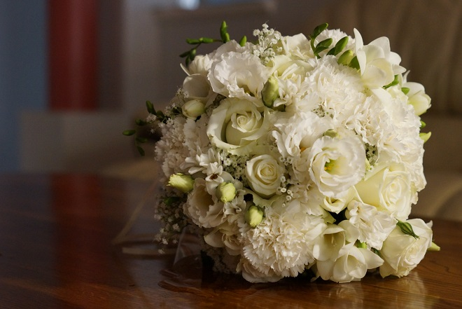 real wedding bridal bouquet