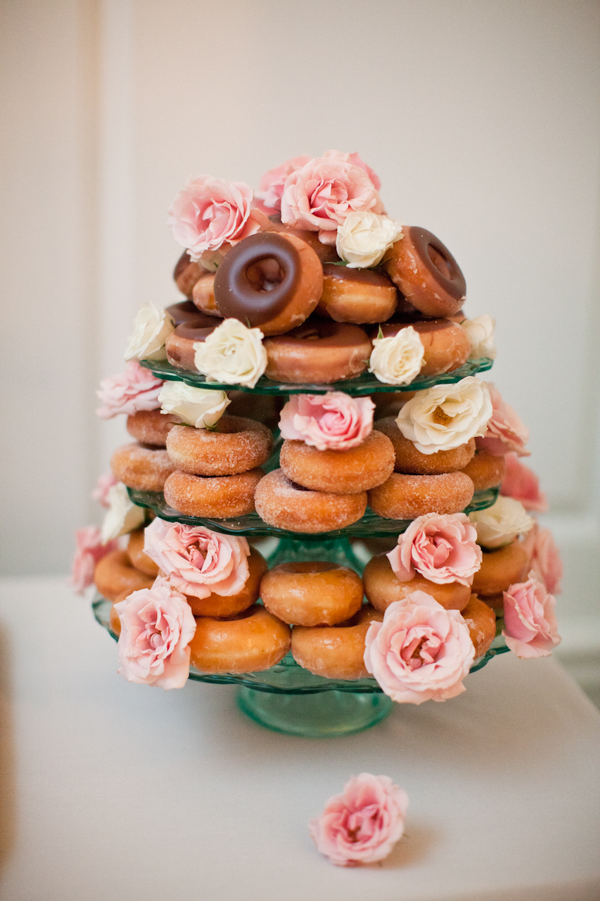 wedding doughnut stack