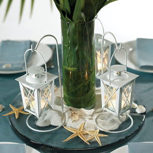 beach wedding centrepiece ideas