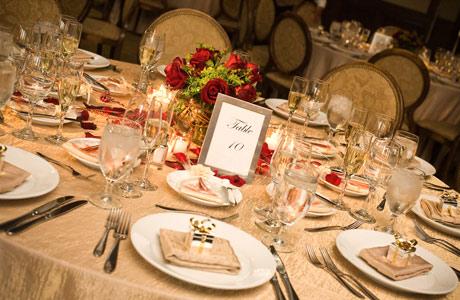 wedding reception table setting ideas