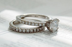 Grading of engagement diamond ring