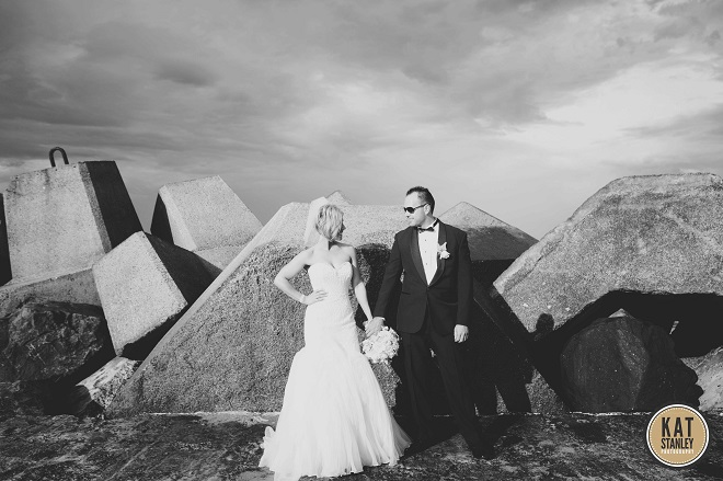classic styled bride and groom