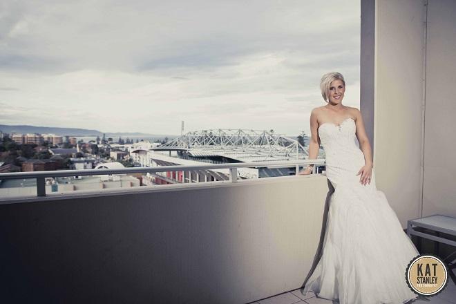full length shot of bride in wedding dress