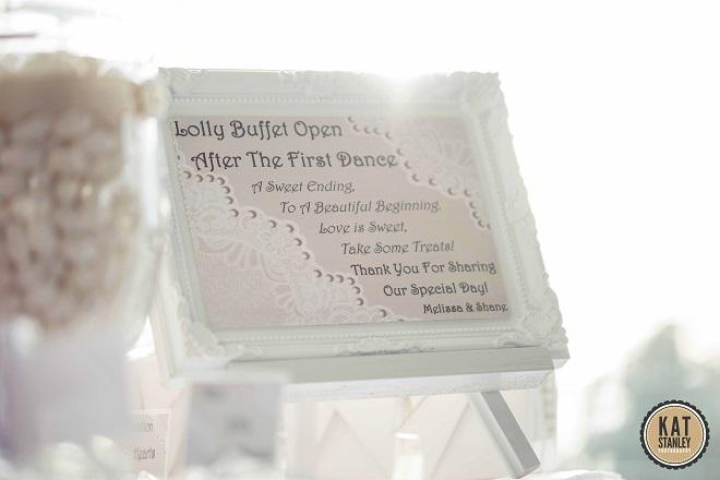 wedding lolly bar