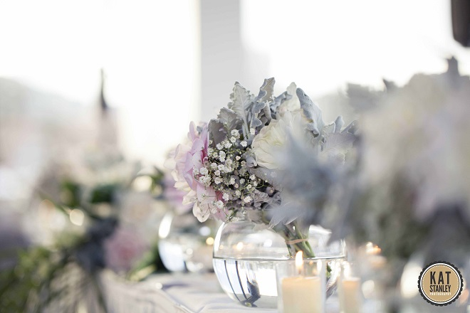 wedding table decorations and flower arrangements