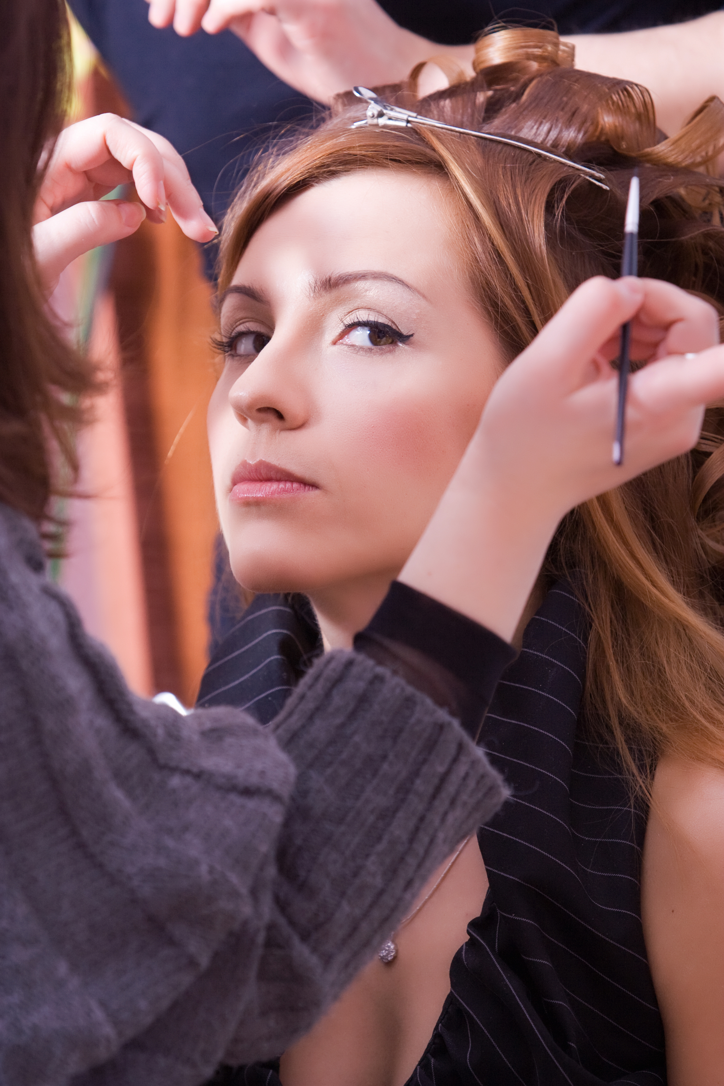 wedding makeup and hair for bride