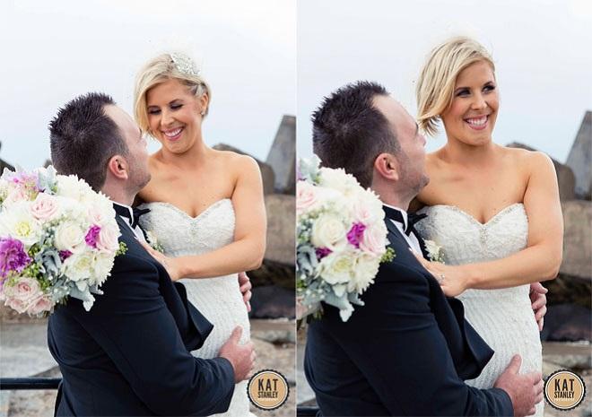 bridal couple posing