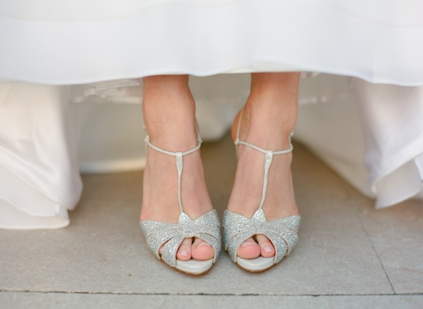 sparkly wedding shoes for bride