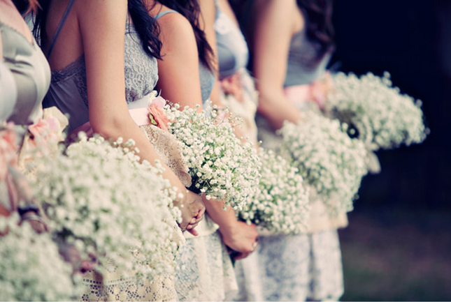 baby breath rustic wedding flowers bridesmaid bouquets