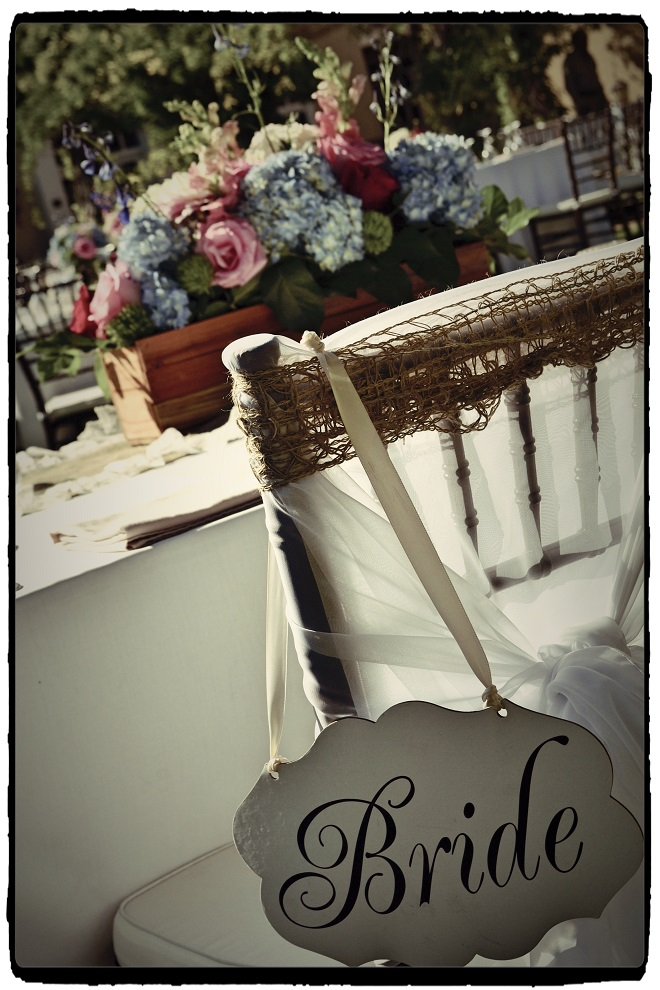 bridal signs for groom and bride wedding chair decoration