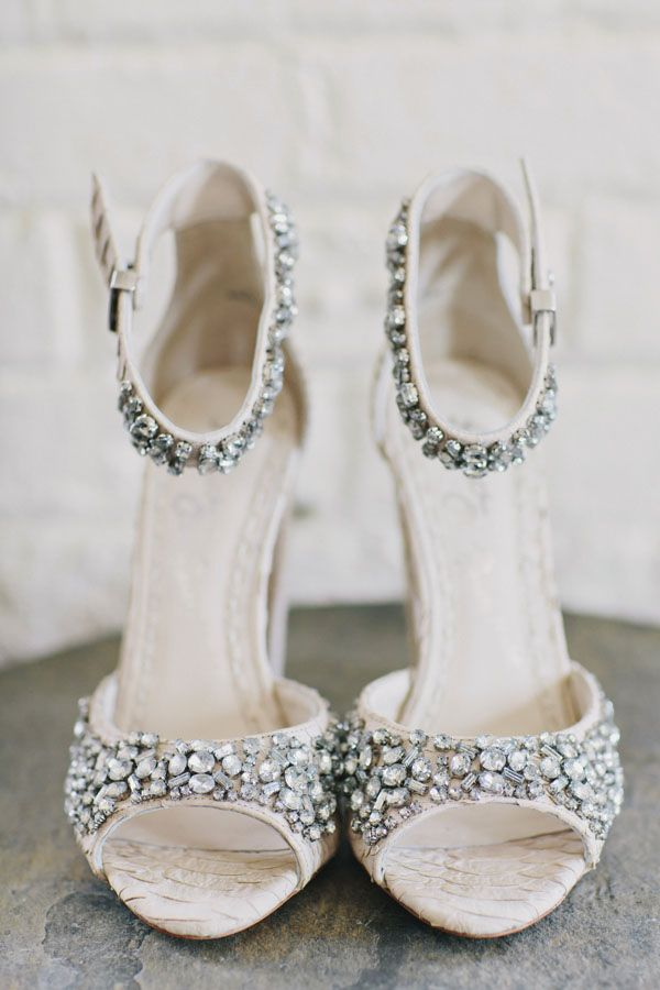classic bridal shoes with embellishments