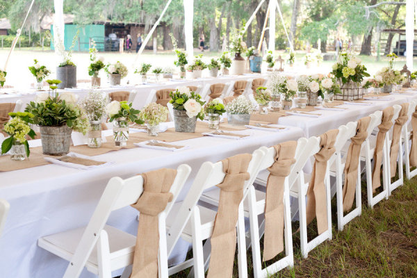 rustic wedding decoration burlap table runner