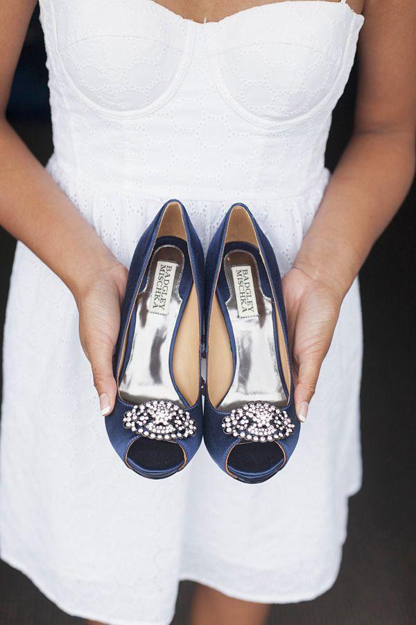something blue inspiration for wedding shoes