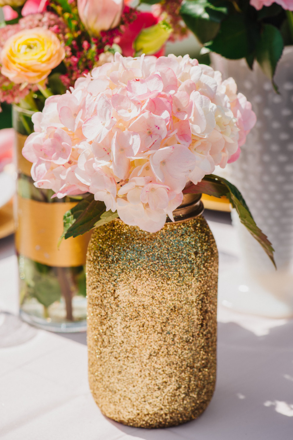 glitter diy wedding decoration