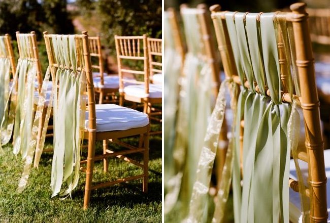 unique wedding ideas for decorating wedding chairs