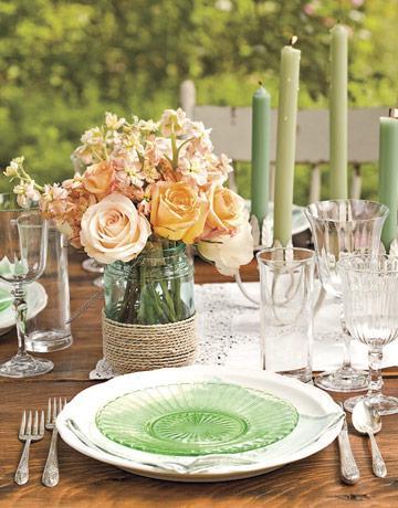 rustic wedding style twine embellishments