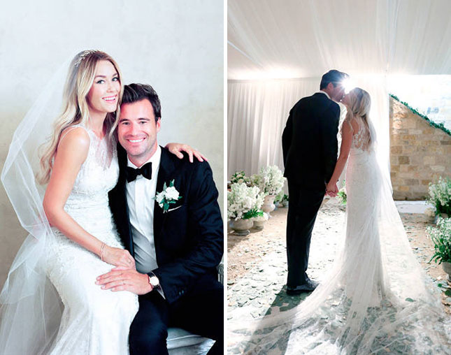 celebrity wedding lauren conrad bridal style