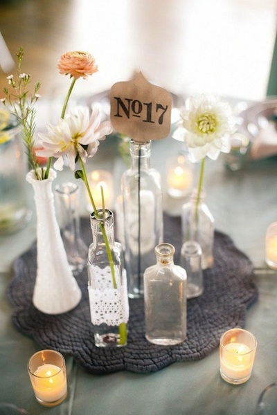 vintage wedding centrepieces