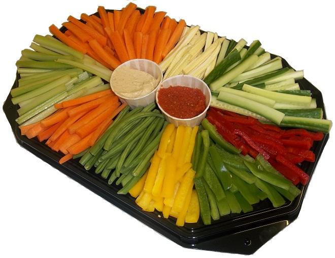 healthy eating vegetable and dip platter