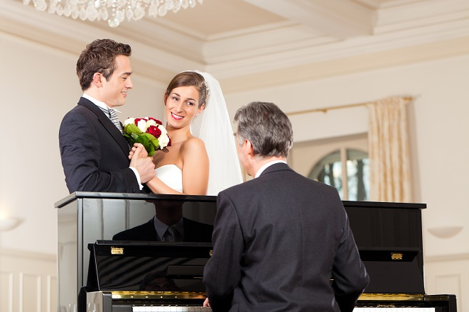 pianist performs wedding music playlist