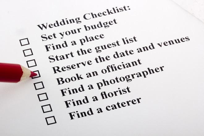 brides wedding planning checklist