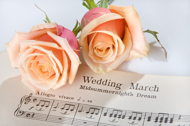 wedding music notes for processional