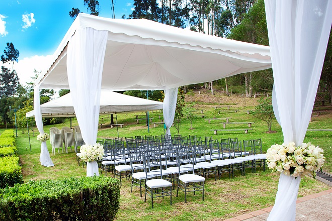 marquee setup for wedding at home