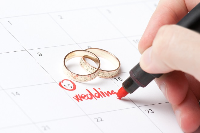planning your wedding date