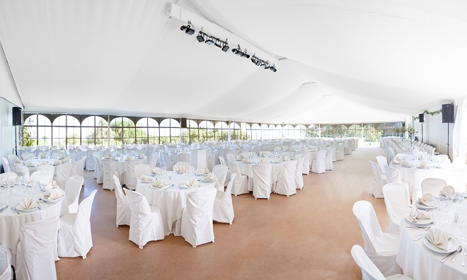 marquee tent for outdoor wedding reception