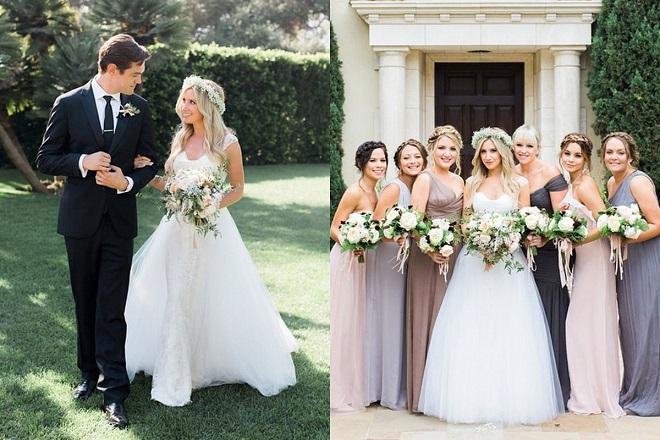 celebrity wedding ashley tisdale bridal party