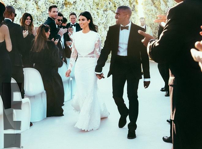 celebrity wedding kim and kanye