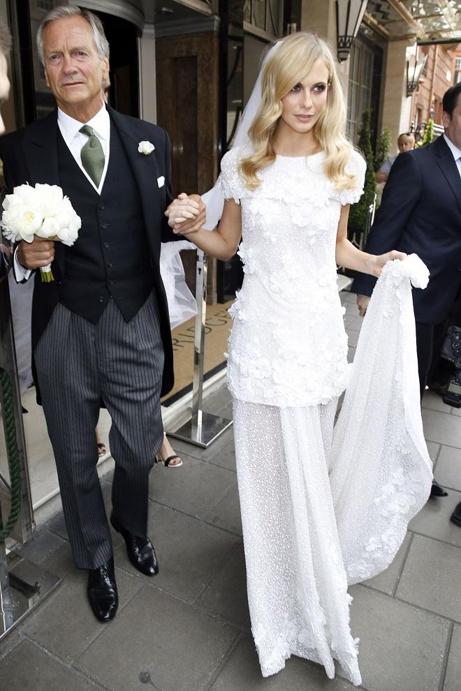 celebrity weddings custom chanel gown