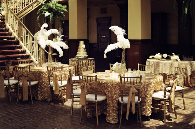 vintage glam great gatsby wedding theme