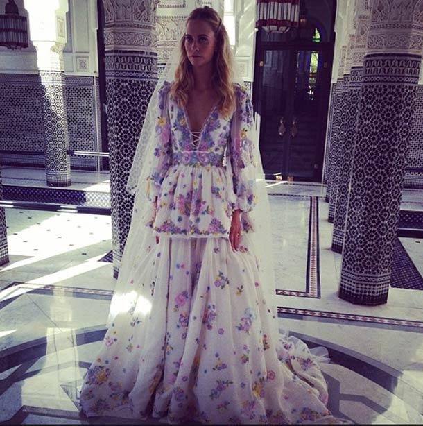 celebrity wedding dress 2014