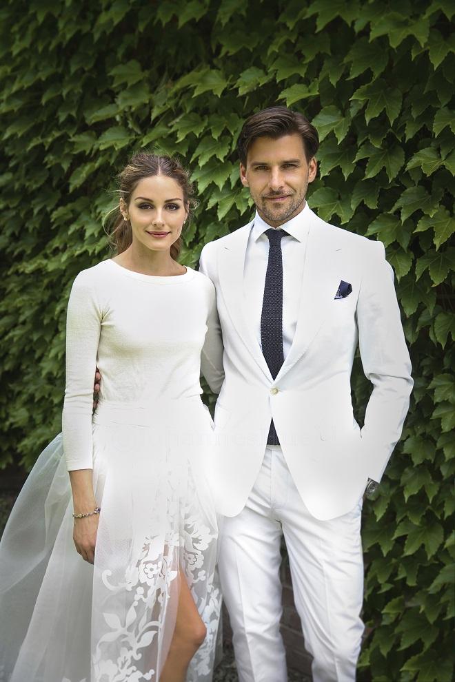 stylish celebrity wedding olivia palermo non traditional bridal style