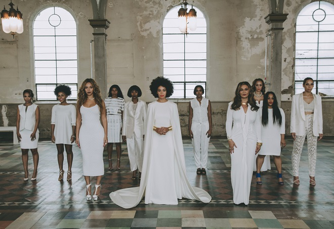 solange knowles all white wedding style